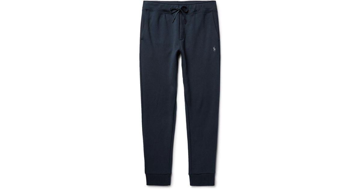 c62b6d1d3aee Lyst - Polo Ralph Lauren Slim-fit Tapered Jersey Sweatpants in Blue for Men
