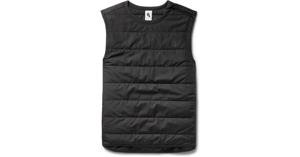 440f4b2e1400 Lyst - Nike Lab Essentials Quilted Shell Gilet in Black for Men