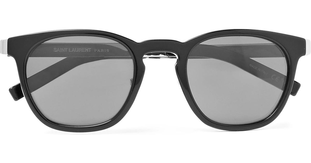 Lyst - Saint Laurent D-frame Silver-tone And Acetate Sunglasses in ...