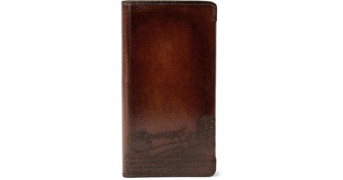 Union Scritto Leather Berluti Iphone Polished 8 Case In Native 7Ixxqzw5