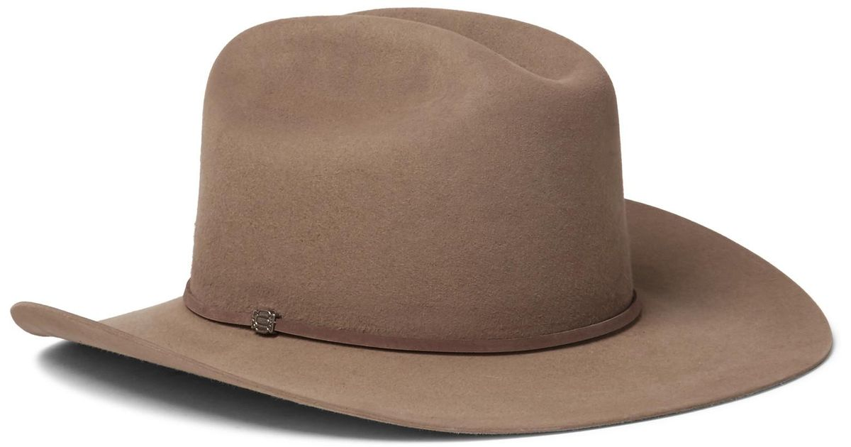 edf1028759c ... usa lyst kingsman stetson tequilas statesman leather trimmed felt hat  in brown for men 4c0eb 78025 ...
