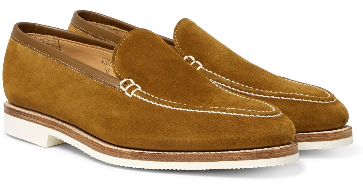 Riviera Suede Loafers - BrownGeorge Cleverley wVL0DFIWx