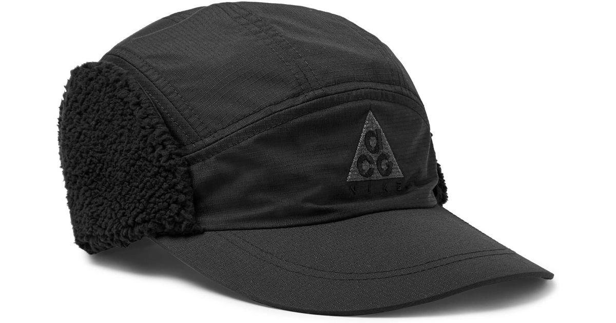 b80c62e6 Nike Acg Tailwind Sherpa-trimmed Nylon-ripstop Cap in Black for Men - Lyst