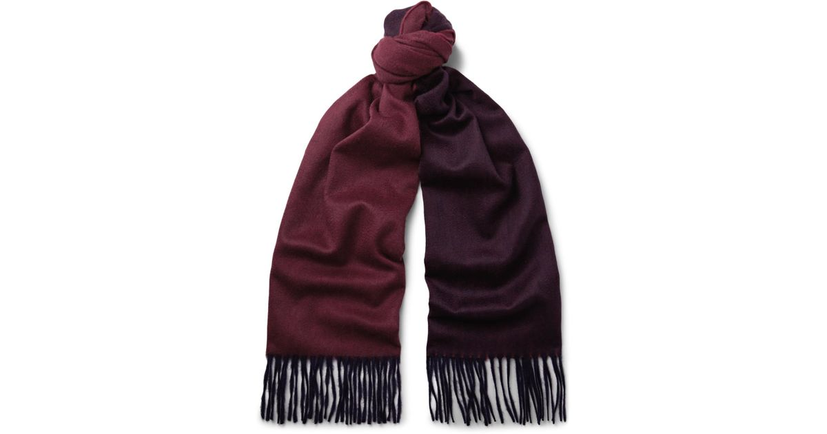a33148983c7 Lyst - Begg   Co Arran Two-tone Cashmere Scarf in Red for Men