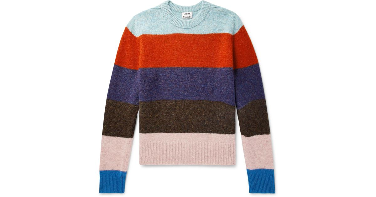 107ce1016cf6 Acne Studios Kai B Striped Wool Sweater for Men - Lyst