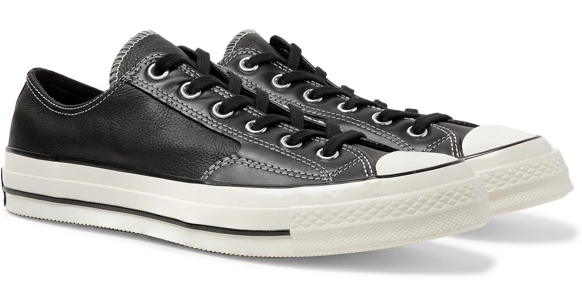 84dc91eaff6 Converse 1970s Chuck Taylor All Star Full-grain Leather Sneakers in Black  for Men - Lyst
