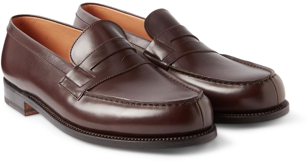 buy cheap sale buy online with paypal J.M. Weston Leather Penny Loafers s5K1y
