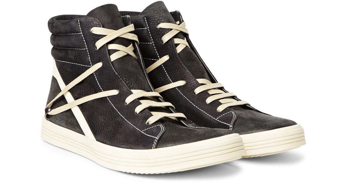 Geothrasher Two-tone Full-grain Leather High-top Sneakers Rick Owens OlVgY