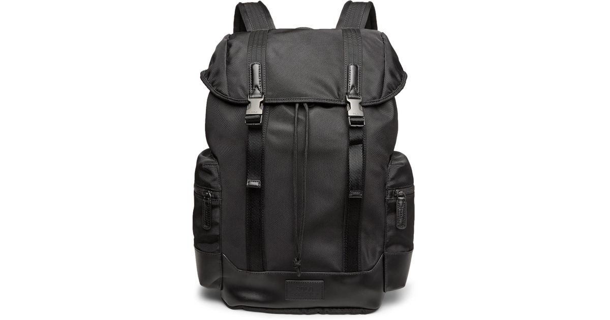 30229849ec Polo Ralph Lauren Leather-trimmed Ripstop Backpack in Black for Men - Lyst
