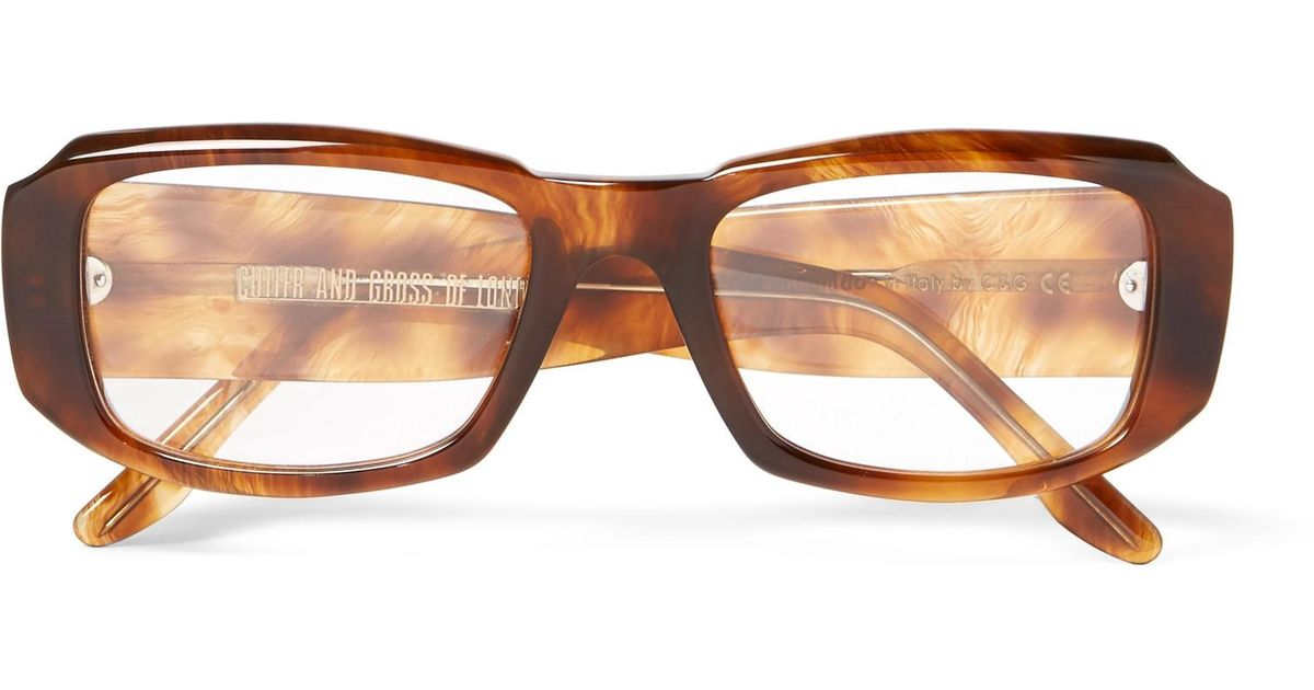 1388a3f679 Cutler   Gross Square-frame Acetate Optical Glasses in Brown for Men - Lyst