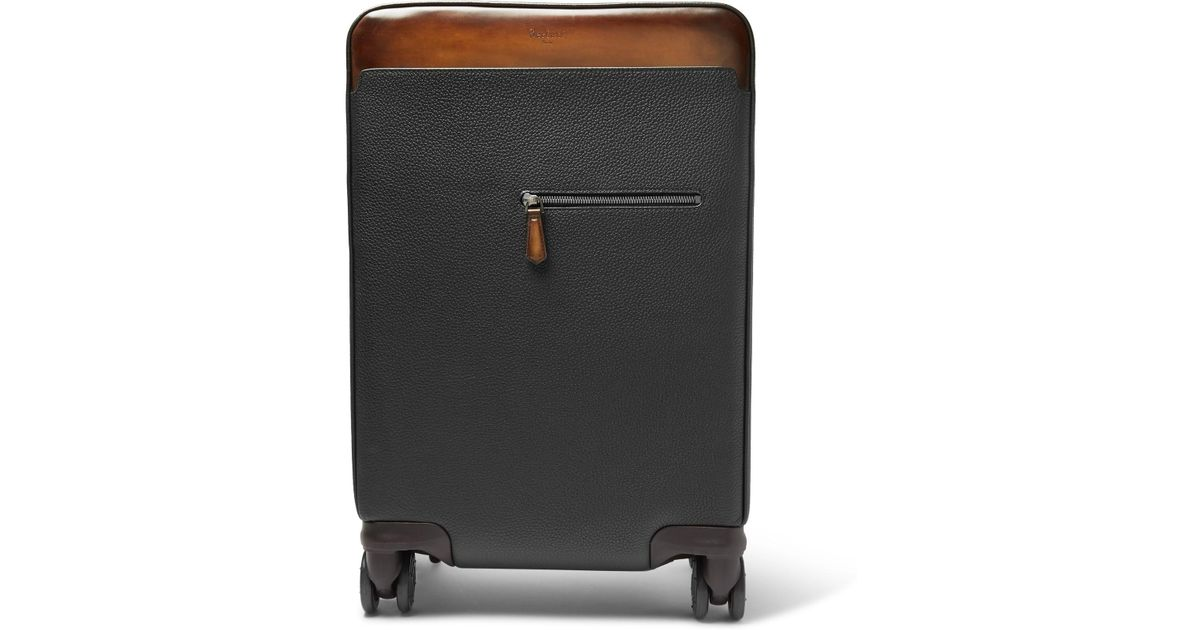 Outlet For Cheap Discount Codes Clearance Store Brunello Cucinelli Burnished Full-grain Leather Carry-on Suitcase ewk4vZiQ