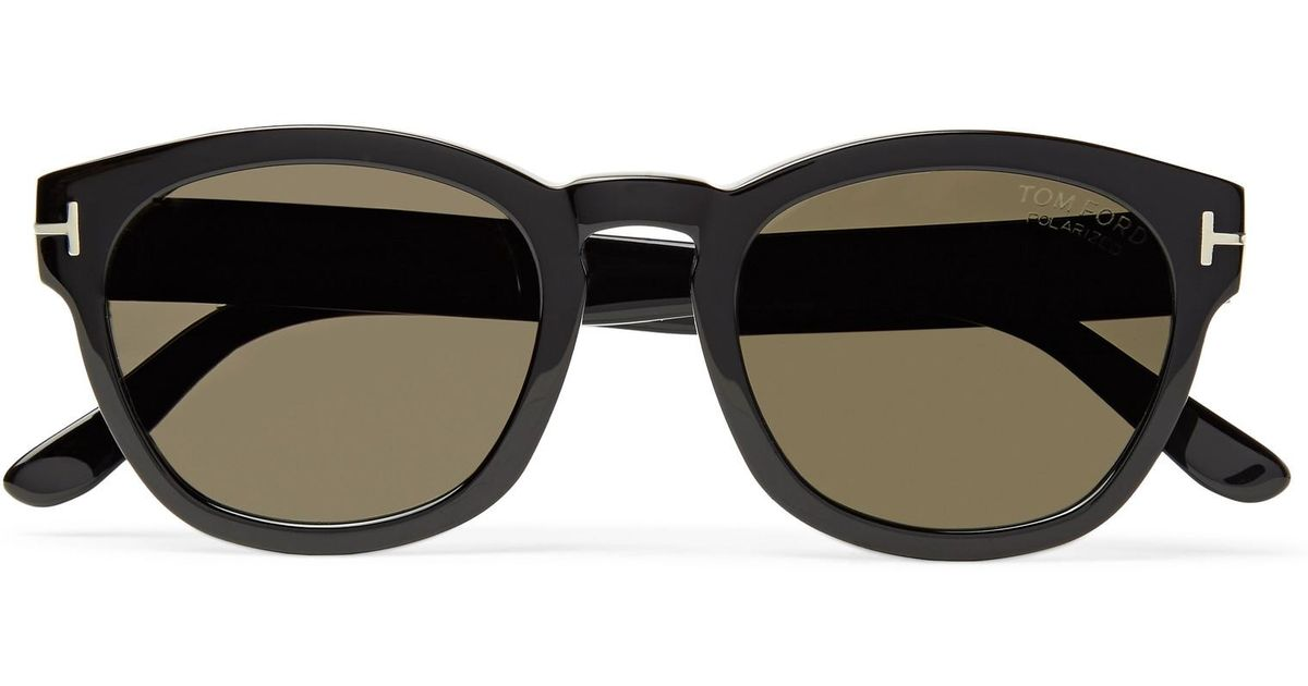 0e49a4a51a Tom Ford Bryan Round-frame Acetate Polarised Sunglasses in Black for Men -  Lyst