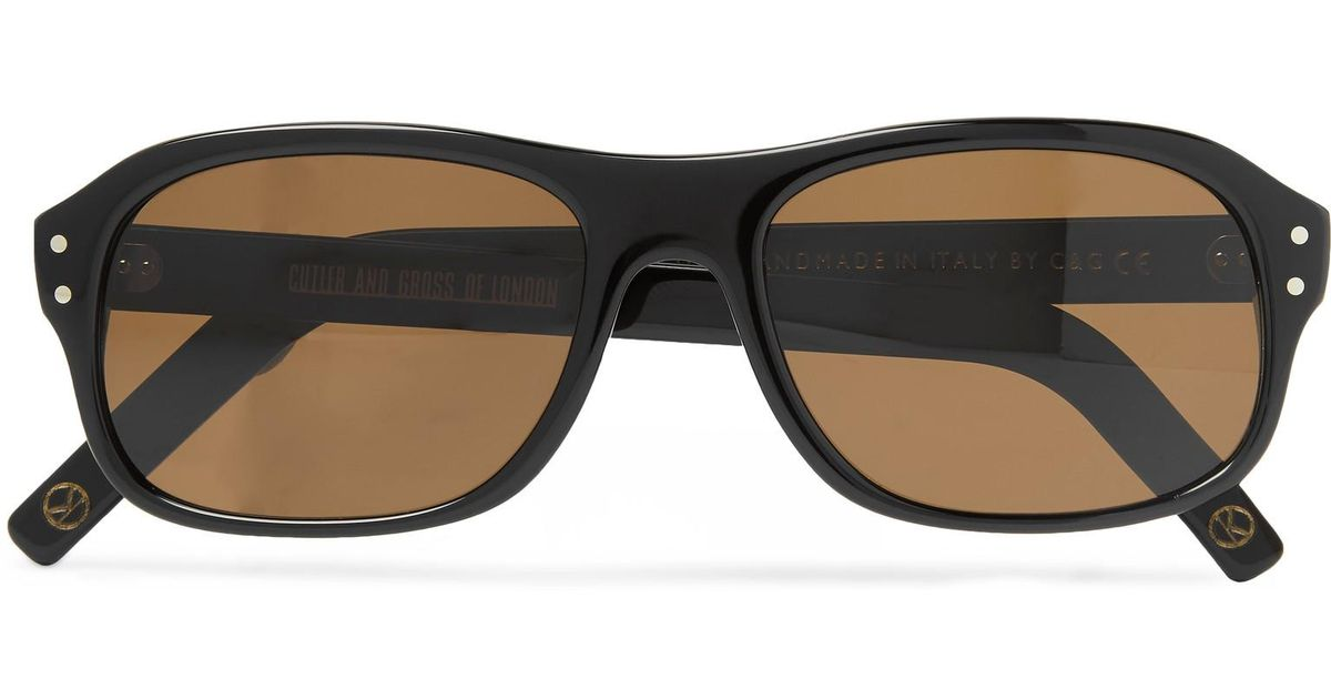 4d3111ace8 Kingsman + Cutler And Gross Eggsy s Square-frame Acetate Sunglasses in  Black for Men - Lyst