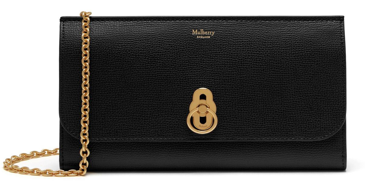 5434ab3e19c4 Mulberry Amberley Clutch In Black Cross Grain Leather in Black - Save 3% -  Lyst