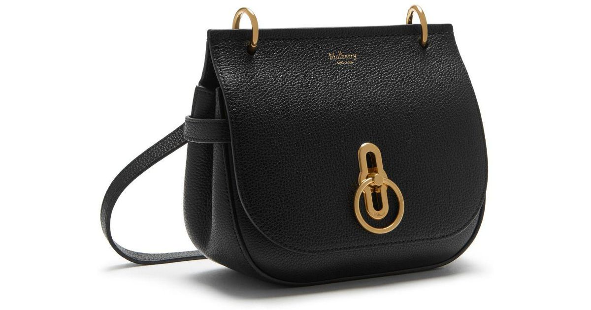 40cf1ce466c8 Lyst - Mulberry Small Amberley Satchel In Black Small Classic Grain in Black