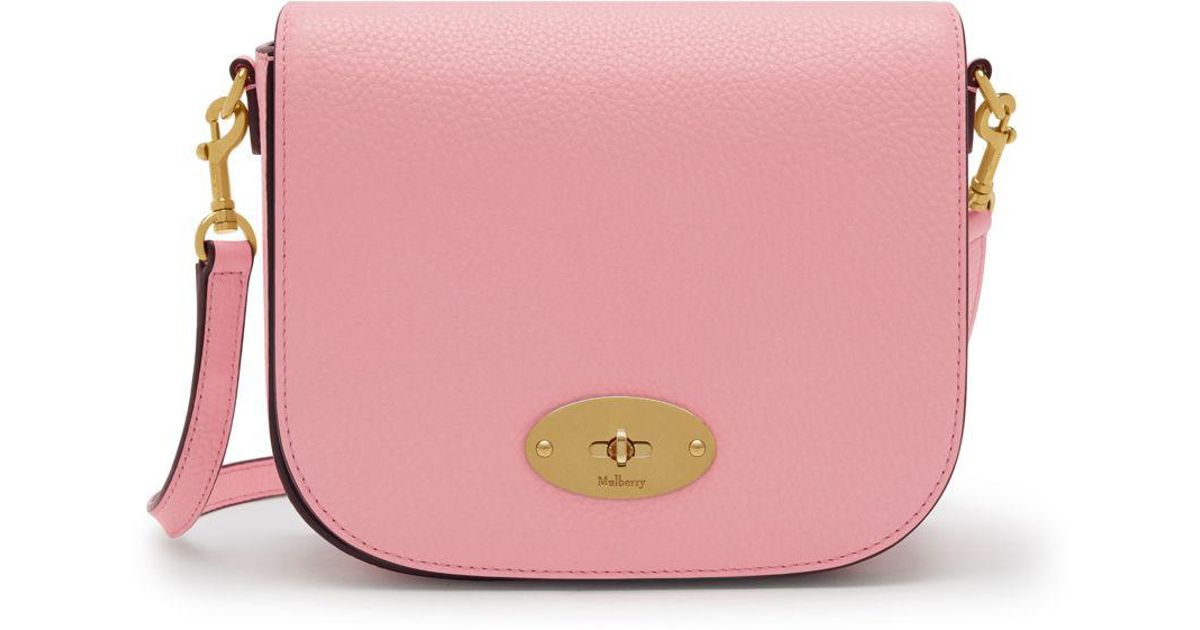 f081ef7b27de Mulberry Small Darley Satchel In Sorbet Pink Small Classic Grain in Pink -  Lyst
