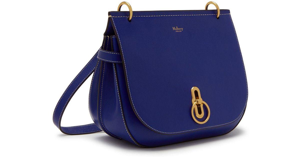 fd4e37f7e5561 Lyst - Mulberry Amberley Satchel In Cobalt Blue Silky Calf in Blue
