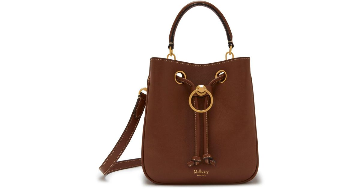 40747ec316d3 Mulberry Small Hampstead In Tan Silky Calf in Brown - Lyst