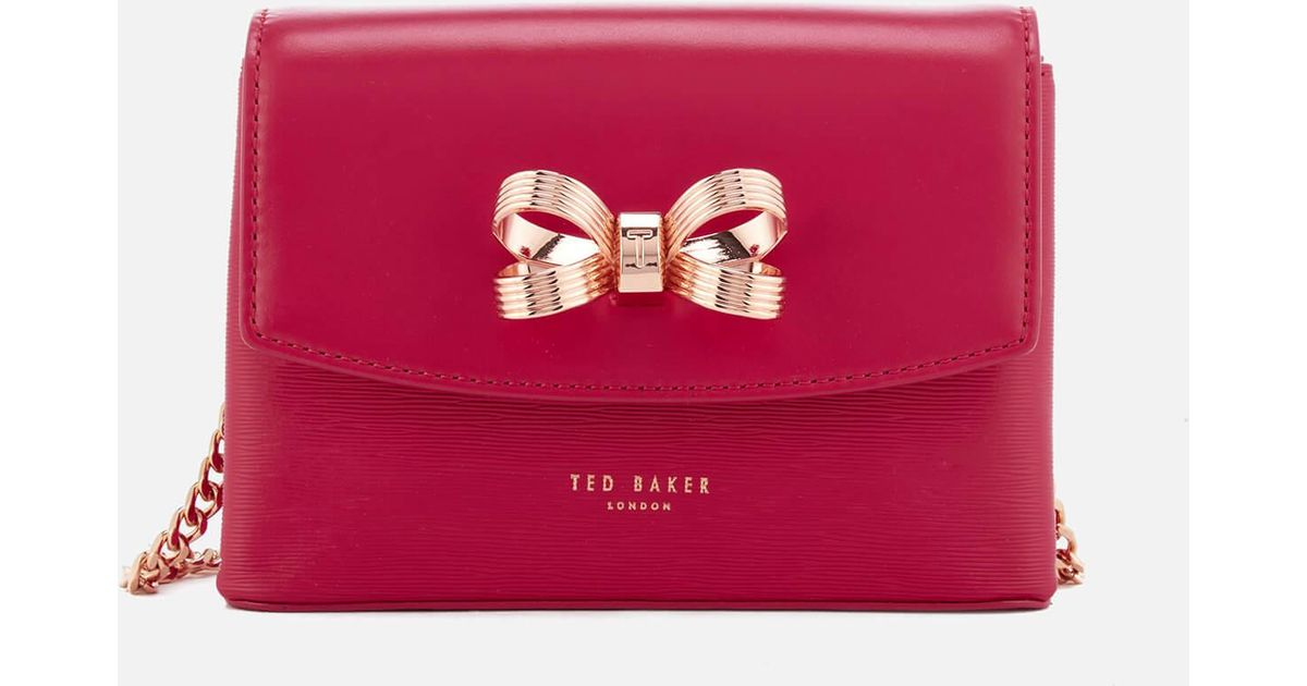 6885a448d69aa Ted Baker Leorr Looped Bow Mini Cross Body Bag - Lyst