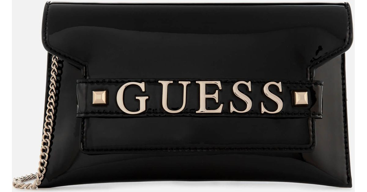 24a3932cde5f Lyst - Guess Summer Nights City Clutch Bag in Black