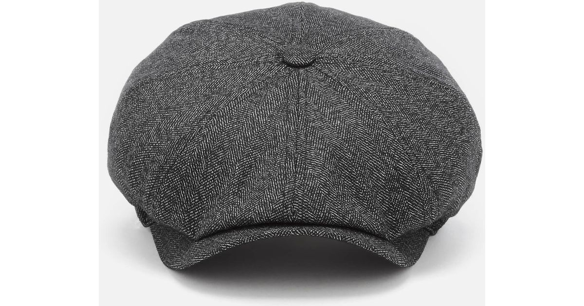 1785502285bd Ted Baker Tspoon Herringbone Flat Cap in Gray for Men - Lyst