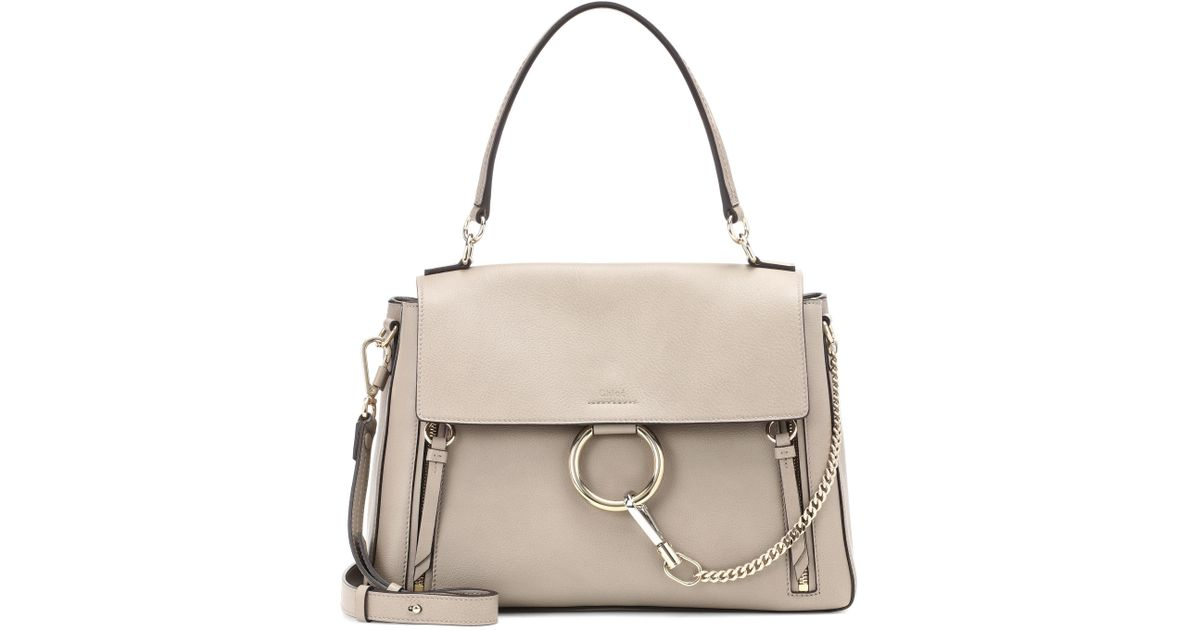 8bf98c0a3fd Chloé Medium Faye Day Leather Shoulder Bag in Gray - Lyst