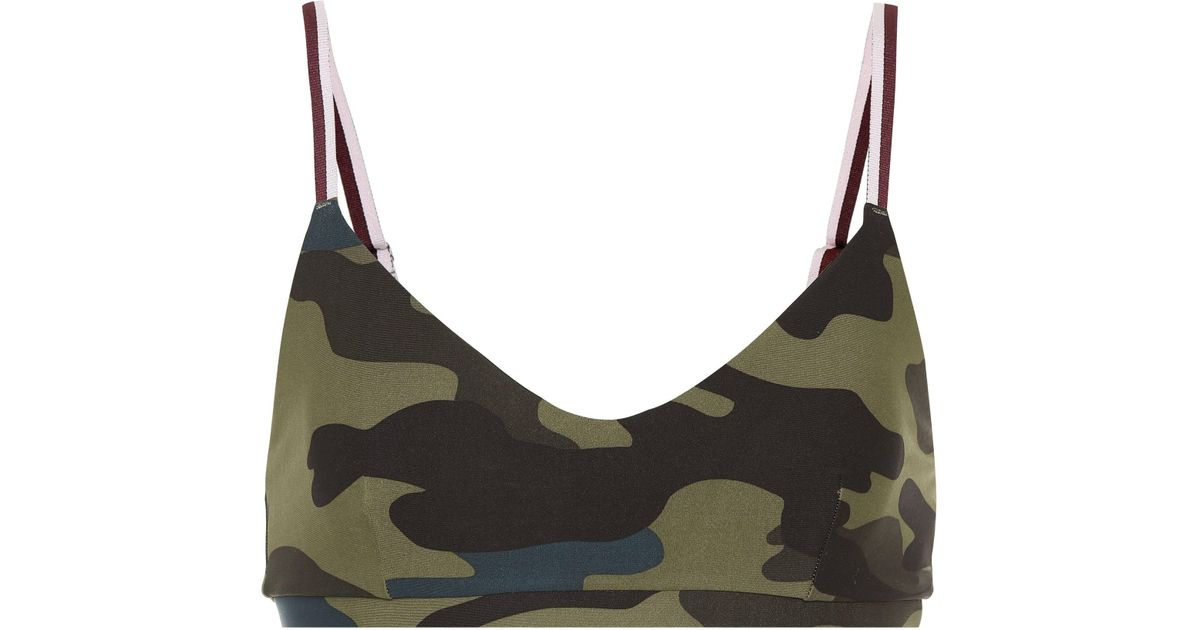 11e9caa949 The Upside Army Camo Ballet Sports Bra - Lyst