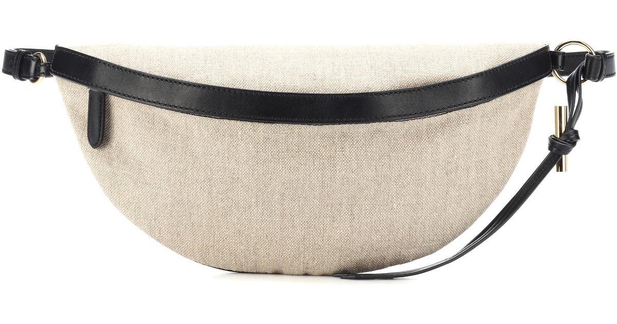 Stella McCartney Medium Canvas Belt Bag in Natural - Lyst