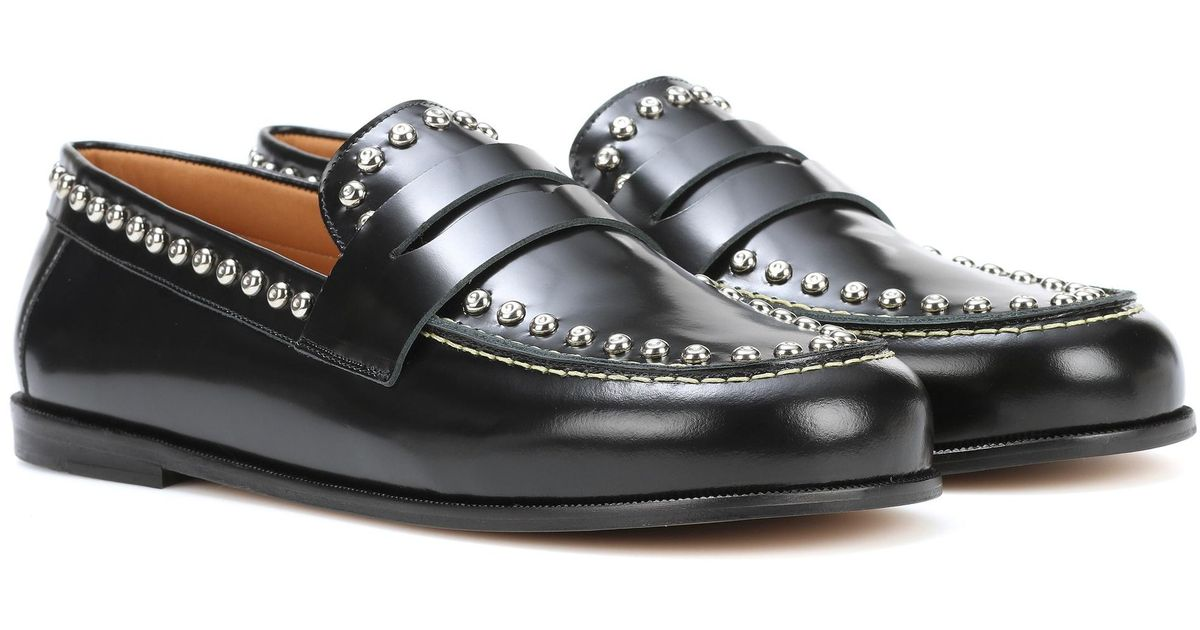 957c069478d Lyst - Isabel Marant Fenzay Embellished Leather Loafers in Black