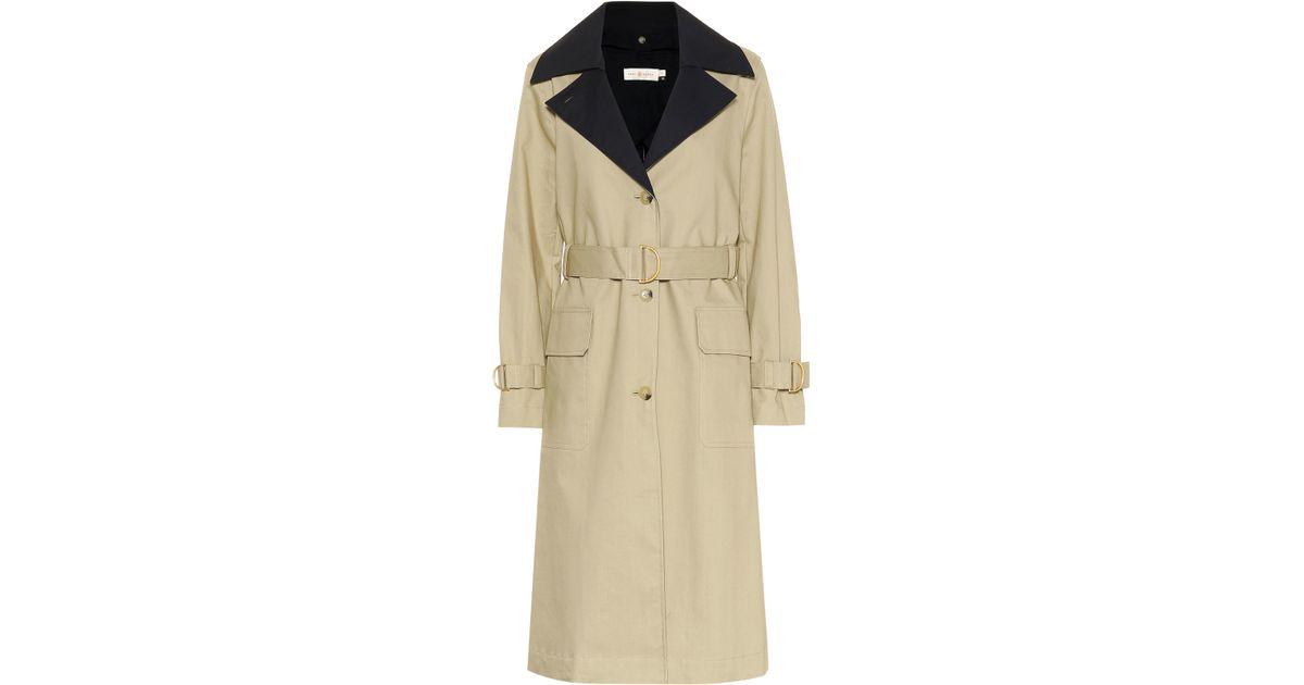 b44fd17d9fcf Lyst - Tory Burch Ashby Cotton Trench Coat