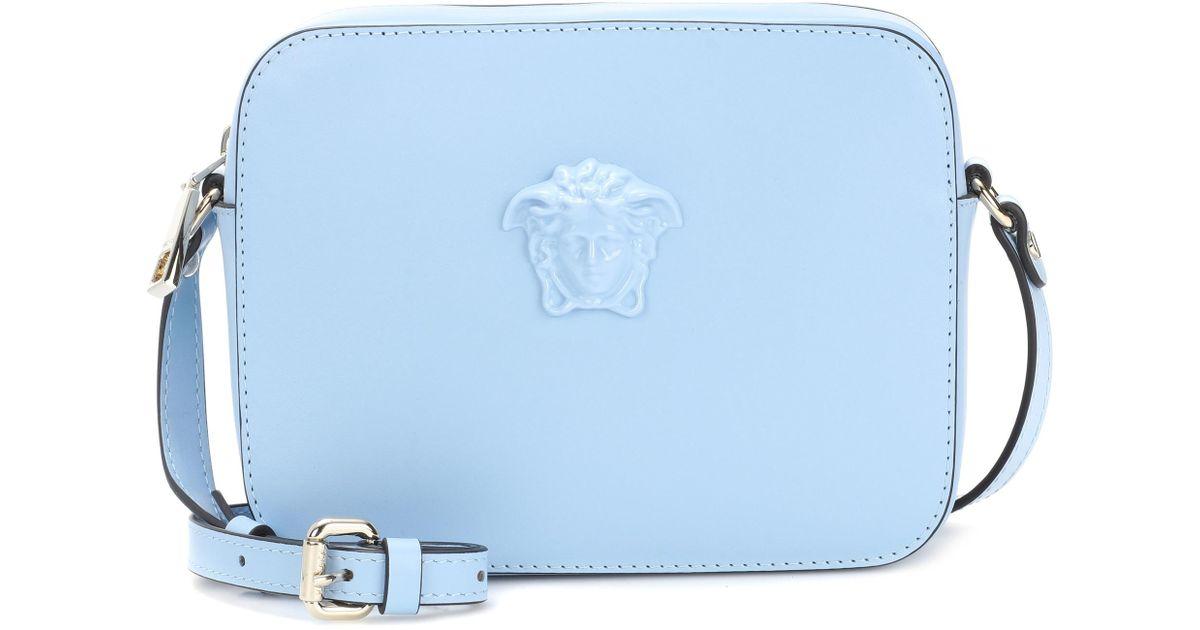 Versace Blue leather shoulder bag j5JvE