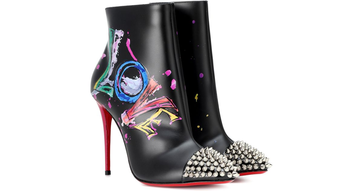 bc7484f669b1 Lyst - Christian Louboutin Love Is A Boot 100 Ankle Boots in Black