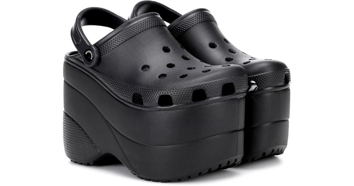 a840883e27b Lyst - Balenciaga Platform Crocs in Black