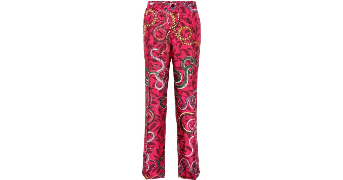 4d5d7bb976 Lyst - F.R.S For Restless Sleepers Etere Silk Pajama Pants in Pink