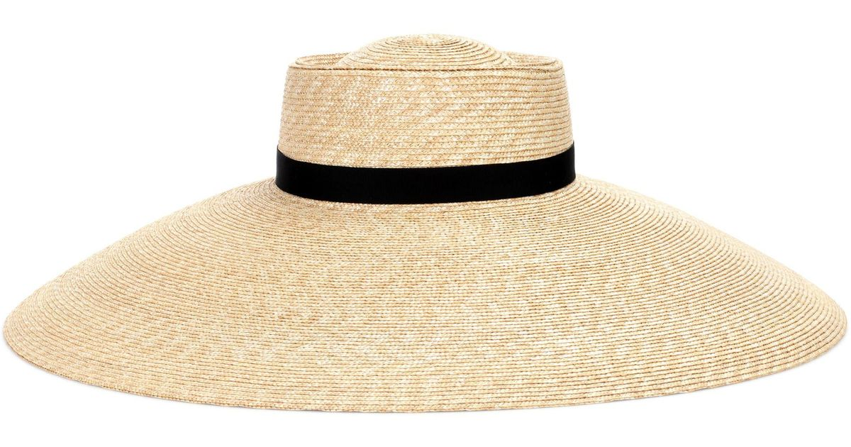 d6bbf40d793 Lyst - Gucci Straw Hat in Natural