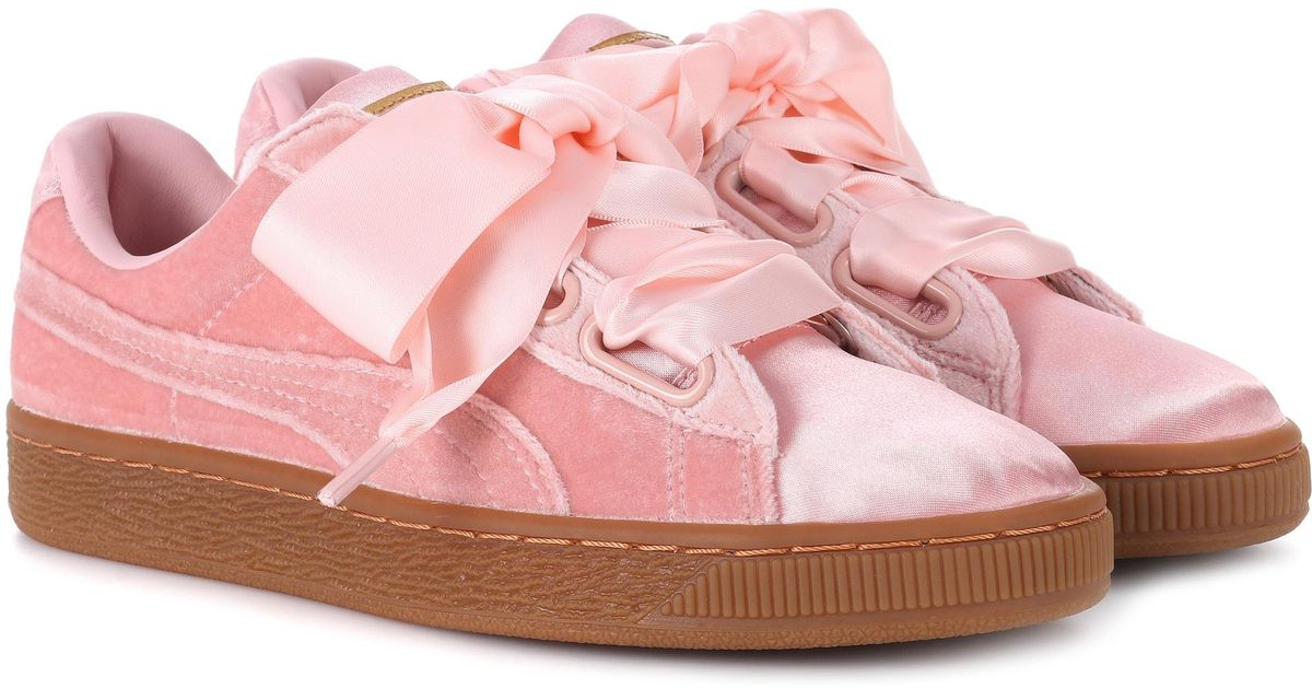 PUMA Basket Heart Velvet 'Pink'