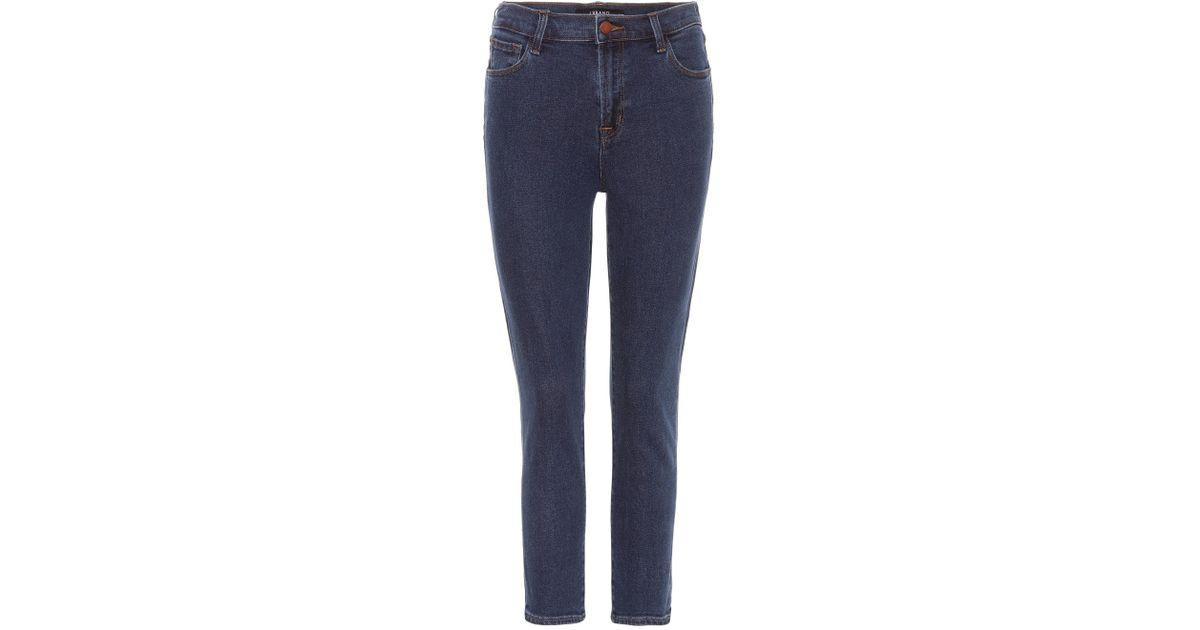 41b85dc63b8a Lyst - J Brand Ruby High-rise Crop Jeans in Blue