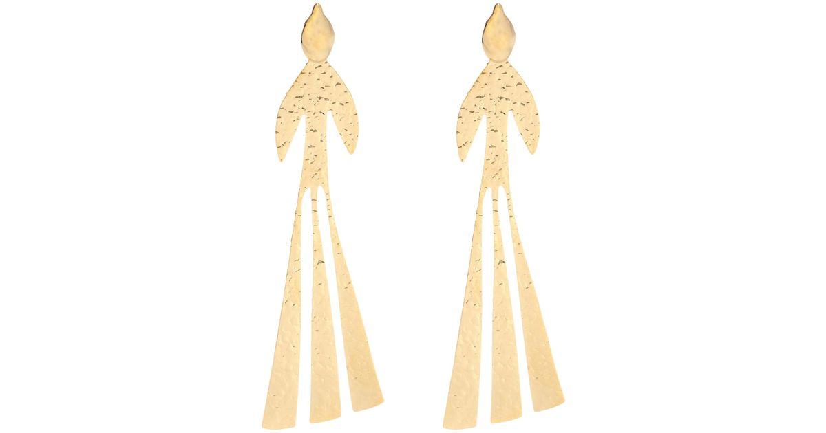 Bird hammered earrings - Metallic J.W.Anderson DNe3u