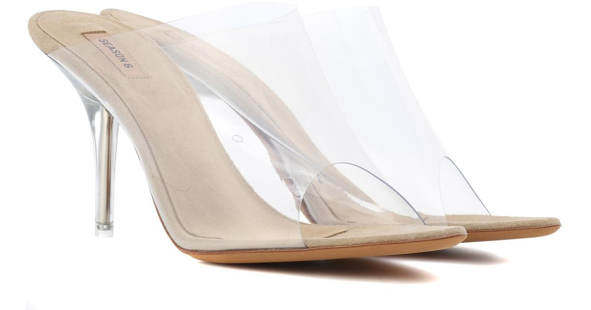 74e17b694c1 Yeezy Transparent Mules (season 6) in White - Lyst