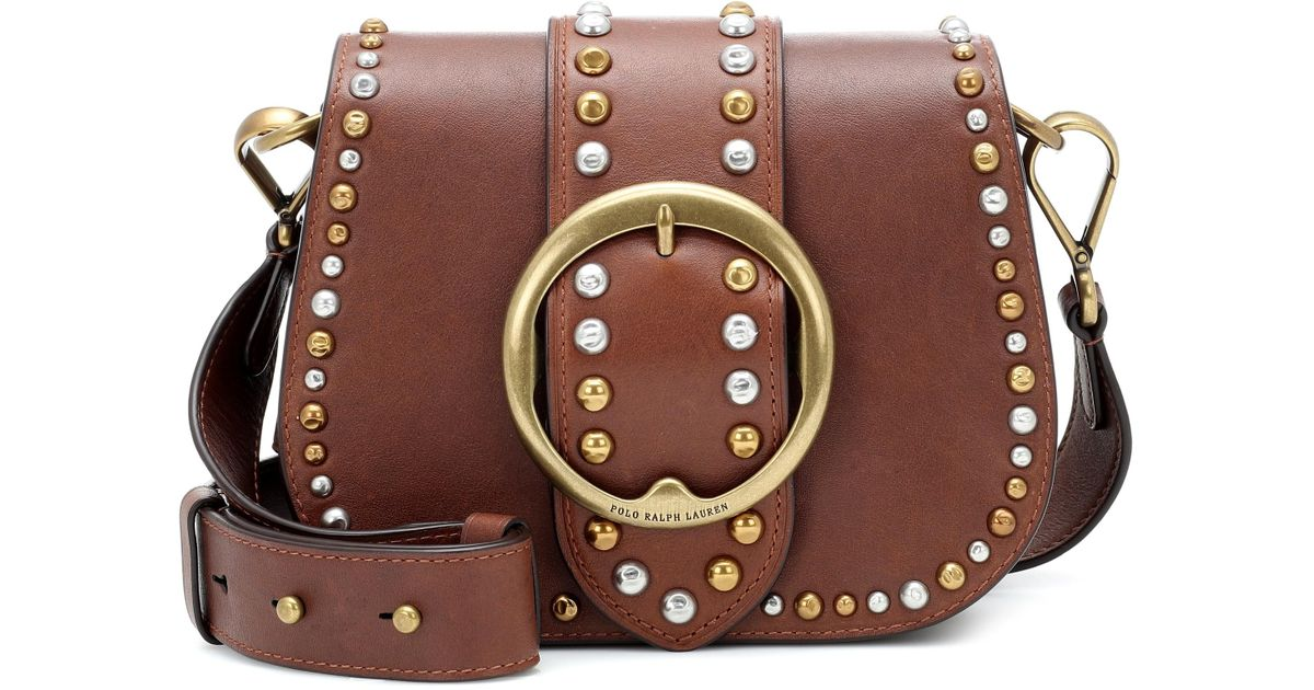 ec2467e84b Polo Ralph Lauren Lennox Leather Crossbody Bag in Brown - Lyst