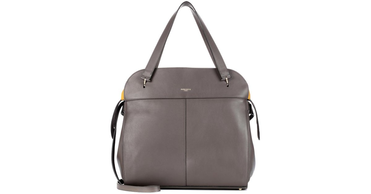 9eb27b3231 Nina Ricci Coda Medium Leather Tote in Gray - Lyst