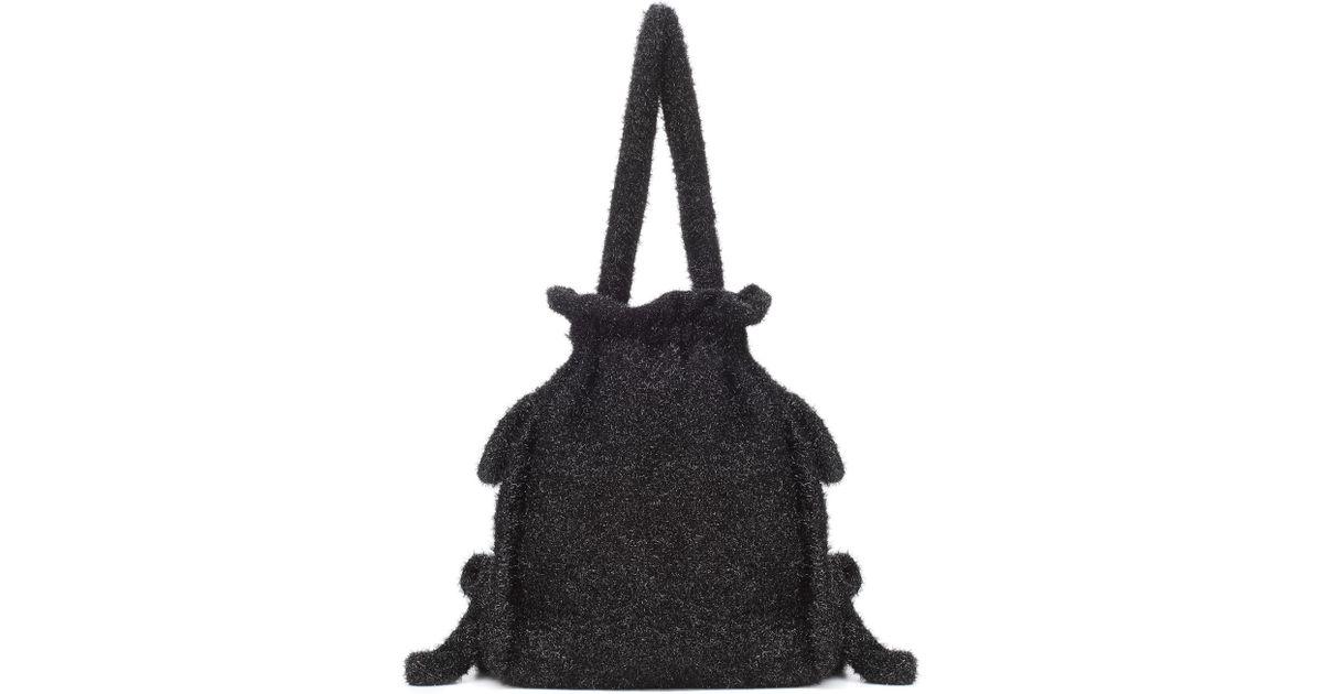 Bag Lamé In Black Simone Lyst Bucket Rocha HzOOwv