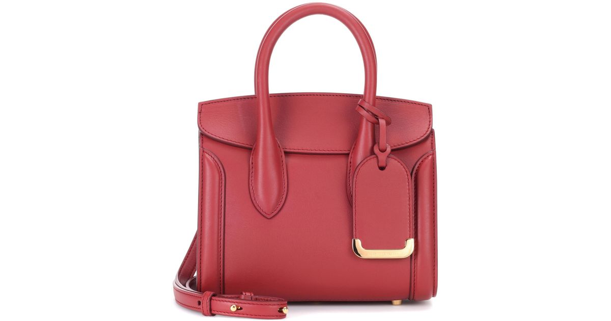 bea7da4eb1775 Alexander McQueen Heroine 21 Leather Crossbody Bag in Red - Lyst