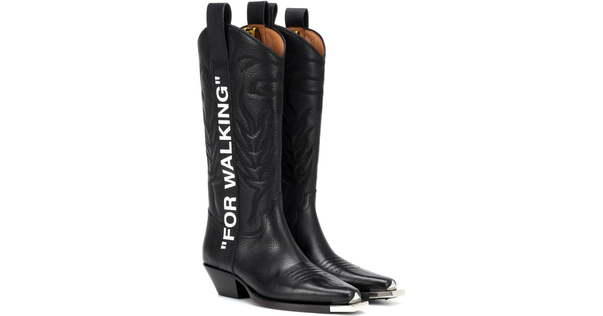 f758caf69 Off-White c/o Virgil Abloh For Walking Cowboy Boots in Black - Lyst