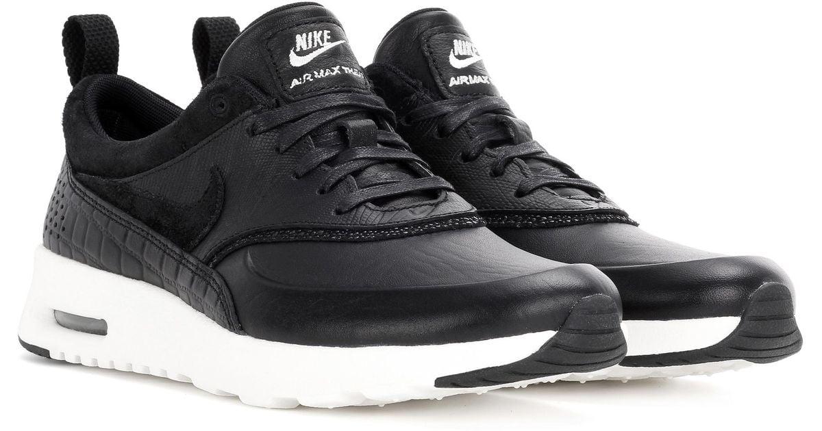 chaussures de sport 39137 70669 Baskets en cuir et daim Air Max Thea Lx Nike en coloris Black