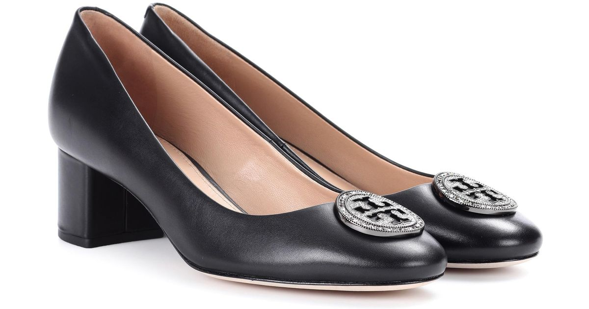66342186976 Lyst - Tory Burch Liana Leather Pumps in Black