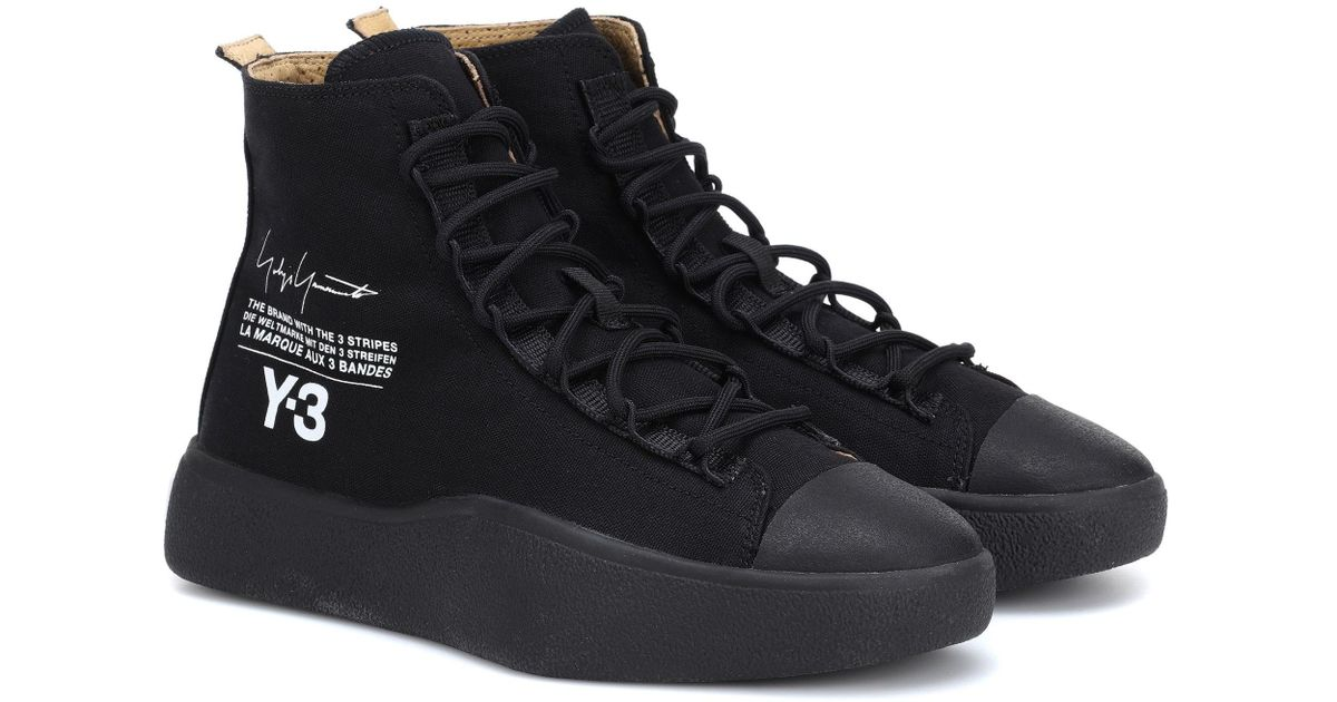 6626516b5 Y-3 Bashyo High-top Sneakers in Black - Lyst