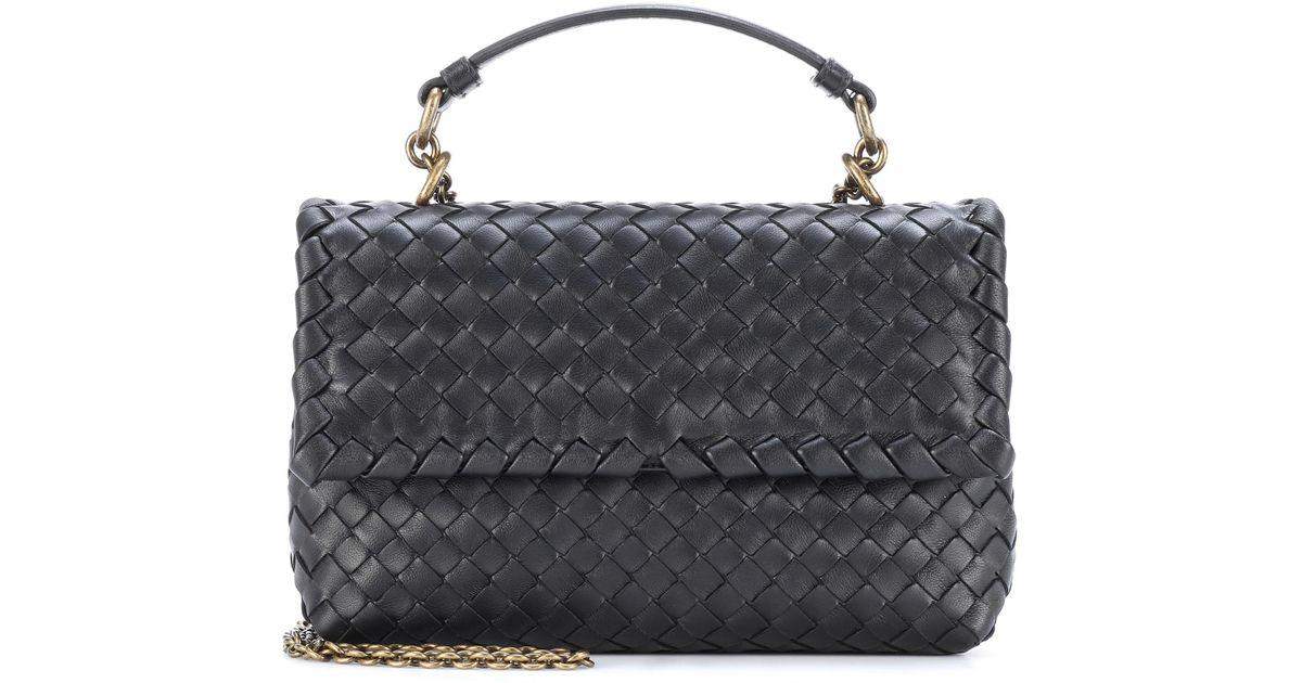 66202c5058 ... Bottega Veneta Olimpia Small Leather Shoulder Bag in Black - save off  65ba9 98b70 ...