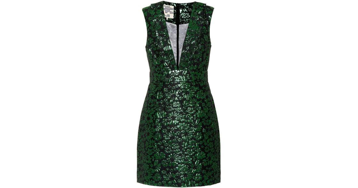 f7e57ec9af7555 baum-und-pferdgarten-green-lurex-flower-Abee-Metallic-Jacquard-Minidress.jpeg