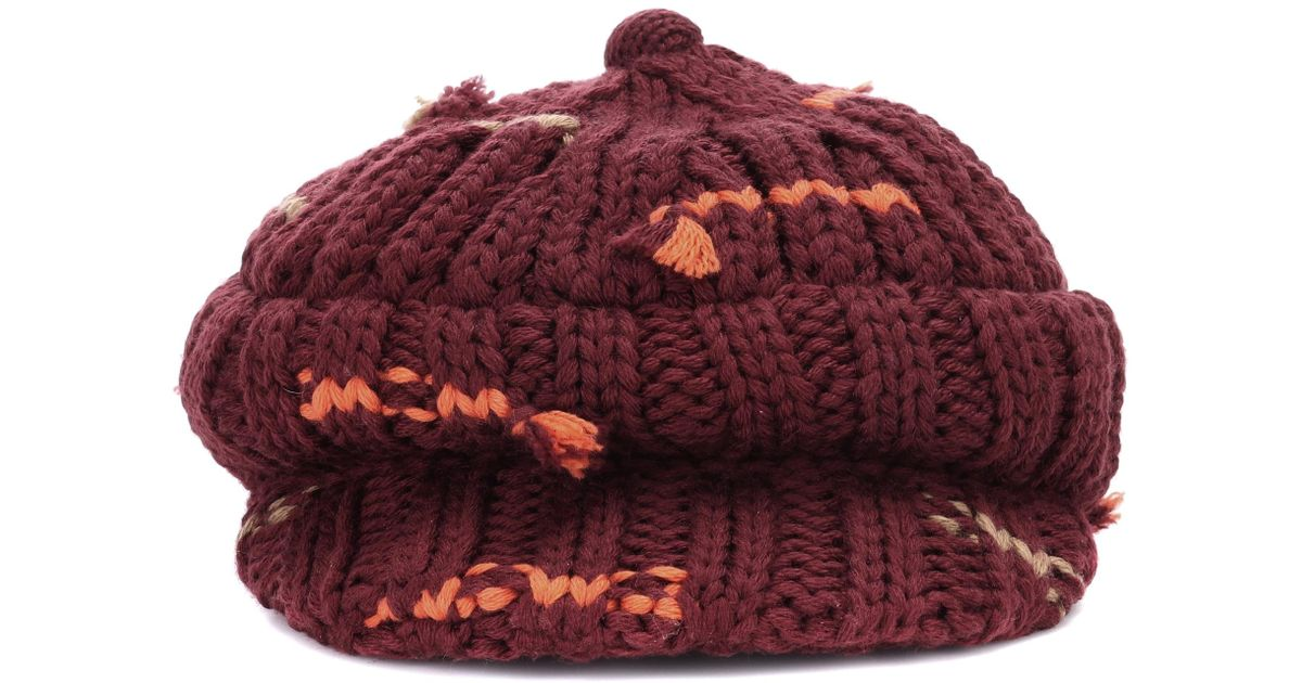c65f7542e20 Lyst - Prada Wool And Cashmere Hat in Red